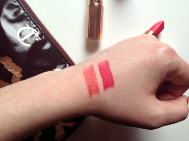 Charlotte Tilbury Lost Cherry and Sexy Sienna Swatches