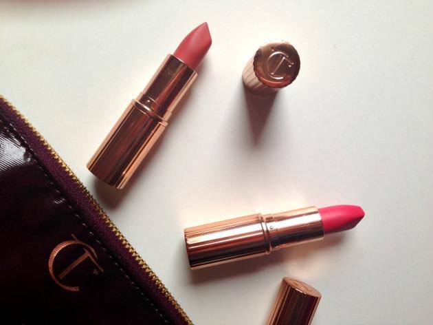 Charlotte Tilbury Matte Revolution lipsticks Lost Cherry and Sexy Sienna