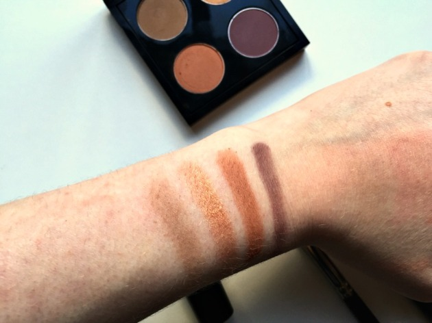 Mac eyeshadow swatches Cork Amber Lights Texture Blackberry