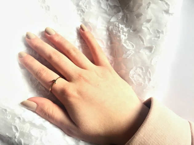 Gemporia Stacker Crescent Moon Ring 9K Gold