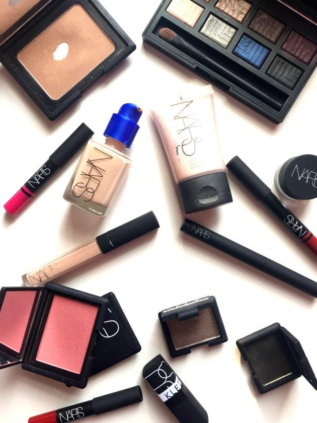 Nars Cosmetic,s Nars Makeup Sheer Glow Flatlay Concealer Blush Steven Klein Lip Pencil Narssist Eyeshadow Palette, Nars Laguna Bronzer