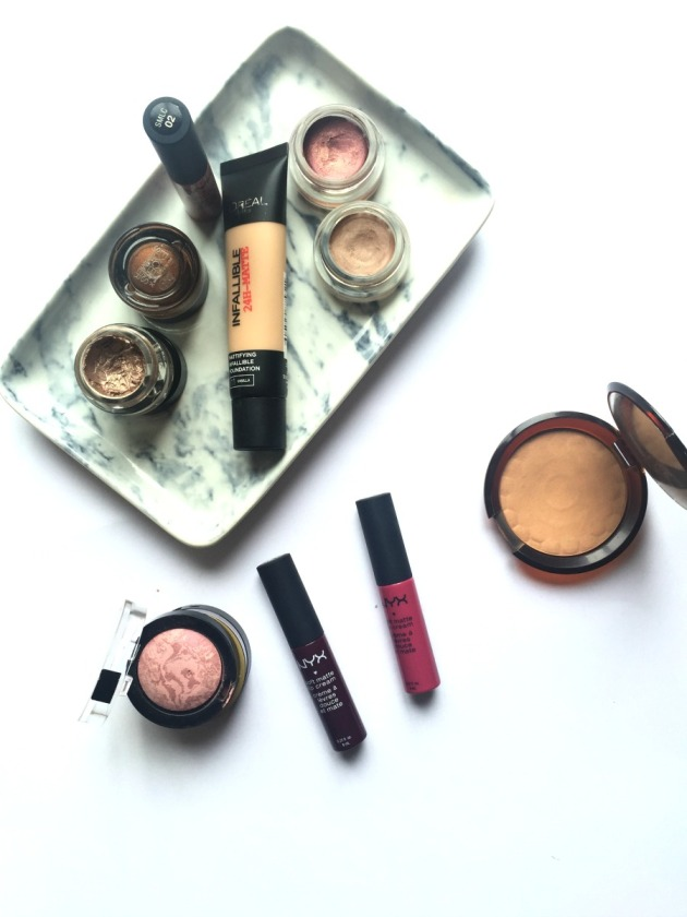 drugstore-makeup-beauty-favourites-loreal-body-shop-foundation-bronzer-maybelline-high-street-nyx-max-factor-boots