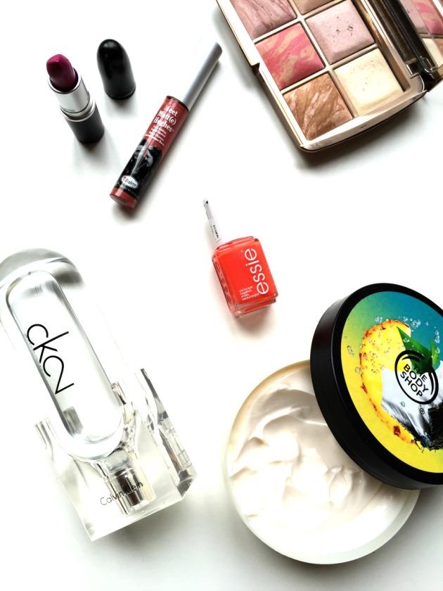 beauty-makeup-favourites-the-balm-liquid-lipstick-commited-hourglass-calvin-klein-the-body-shop-essie-nail-polish-mac-flat-out-fabulous-lipstick-blogger