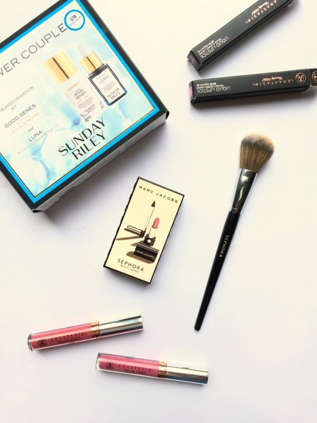Sephora beauty haul us makeup american blog blogger Anastasia Beverly Hills, Liquid Lipstick, Soft Lilac, Dusty Rose, Sunday Riley, Luna, Good Genes, Sephora Brush 55, Collection, Marc Jacobs, Birthday Gift