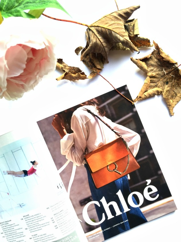 chloe faye, bag, chloe, chloe bag, chloe faye large bag, brown, leaves, autumn, flowers, fashion, style