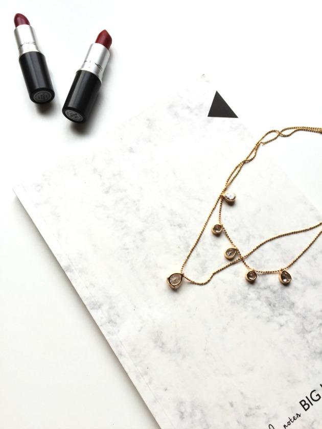 october-goals-lifestyle-blog-blogger-autumn-2016-mac-russian-red-lipstick-d-for-danger-necklace-asos-marble-aldo