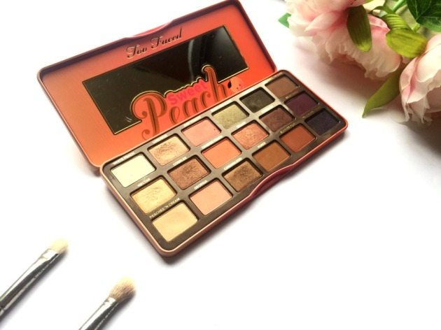Too Faced, Sweet Peach, Eyeshadow Palette, Review, Swatches, Holiday 2016, Spring, Beauty, Makeup