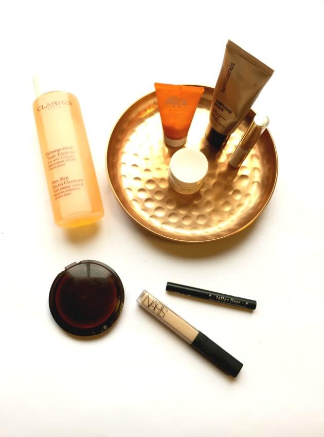 origins, the body shop, nars, bare minerals, kiehls, eye cream. skincare, kat von d, tattoo liner, review, clarins, lip balm