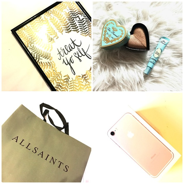 too faced, all saints, makeup, style, iphone 7, rose gold, treat yo self, society 6, black friday 2016, christmas, fall, autumn,