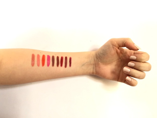 nars lip pencils, lip pencil, swatches, swatch, mandore, damned, cruella, walkyrie, bahama, iberico, yu, descanso, torres del paine
