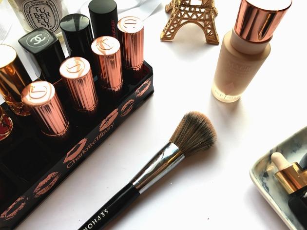 charlotte tilbury, hot lips, kissing, matte revolution, lipstick collection, soap and glory, sephora air foundation brush 55, magic foundation